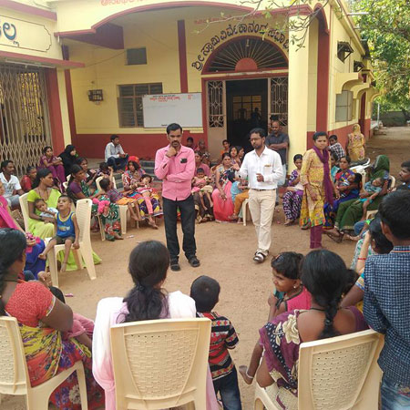 APD India running an awareness and sensitization event in a community
