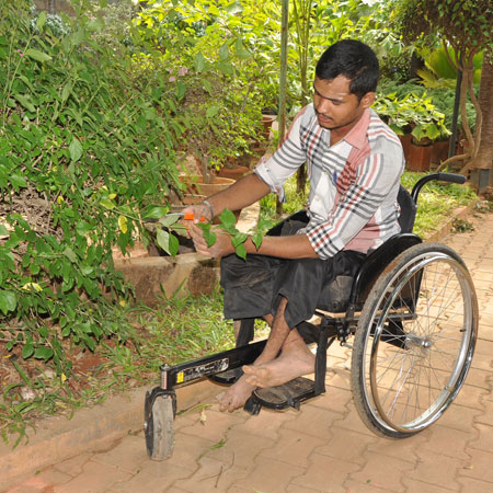 Horticulture Training for youth with disability at APD India