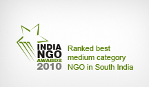 Indian NGO award for the best NGO in the medium category in South India 2010