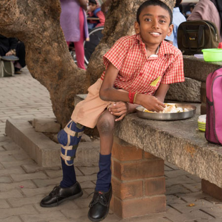 Donate for a meal for children with disability at SIS, APD India