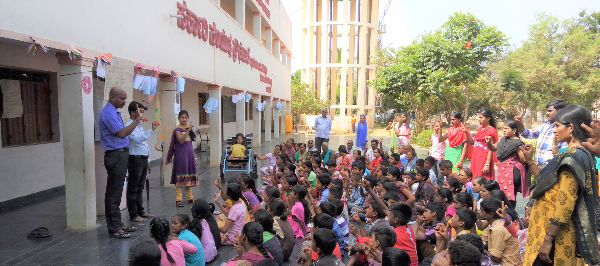 Teaching sign language in community and schools, APD India