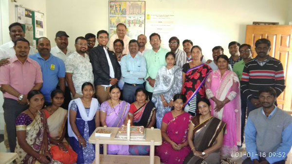 Staff of the APD Campus in Bijapur, Karnataka