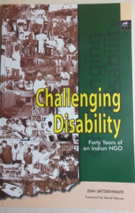"Challenging Disability,"" a book on the journey of APD India by Ms. Jean Satterthwaite, 2002"