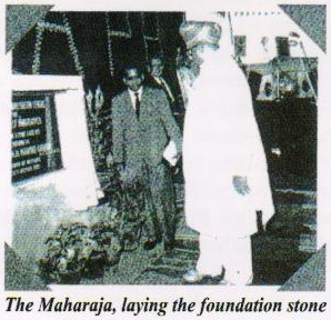 Maharaja Shri. Jayachamarajendra Wodiyer, Governor of Mysore lays foundation stone for APH | | APD India, 1961