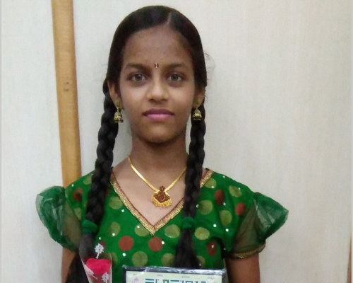 Meghana, suffering from hemiplegia and cerebral palsy, improved in the model school | APD India