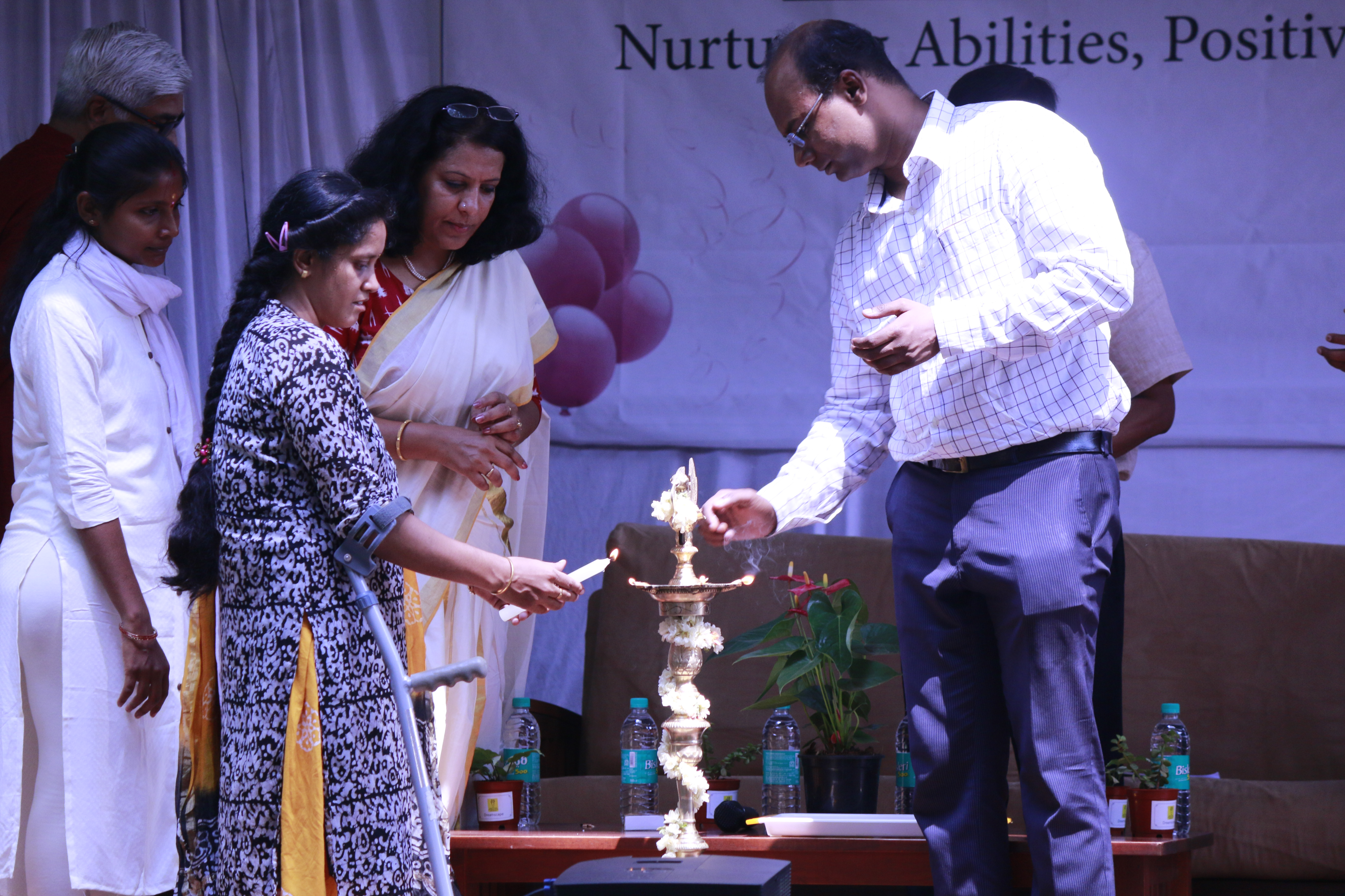 Lamp being lit for the May 22 celebration, with chief guest Mr Randeep Singh, BBMP commissioner | APD India