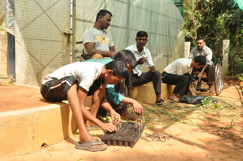 Horticulture Training at the Jeevan Bhima Nagar Center, APD India