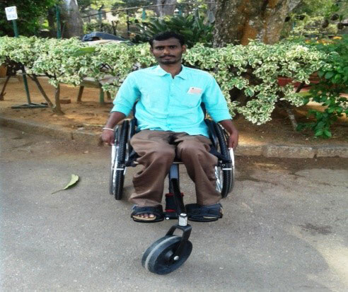 Santosh's wheelchair helped him become mobile again, APD India