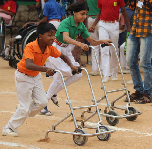 Sports Day at the Shradhanjali Integrated School, APD India