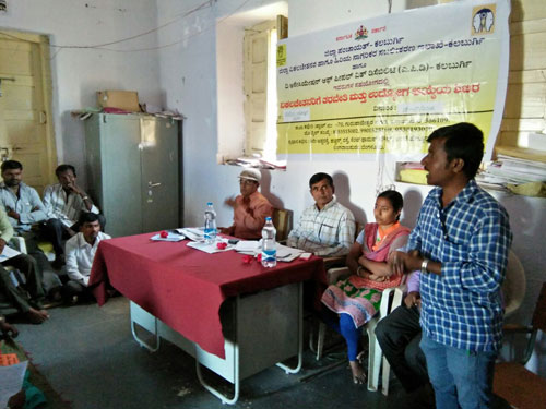 Community mobilization to identify and assess PwDs for livelihood training at APD