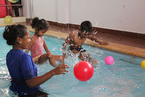 Hydrotherapy provided to children with disability at APD India