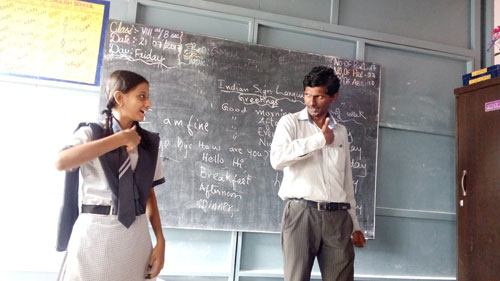 Indian Sign Language being taught at the school, APD India