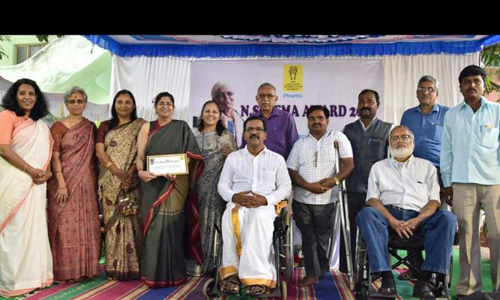 Program of N S Hema award 2017 at The Association of People with Disability, Lingarajpuram