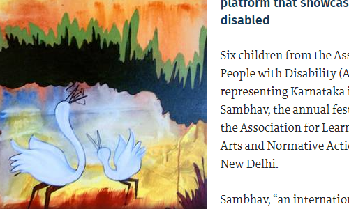 Karnataka participates for the first time in the Sambhav platform that showcases art by the disabled