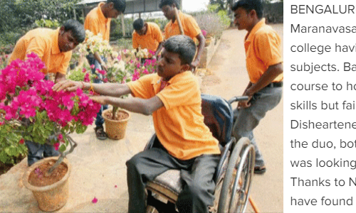 Horticulture jobs for PwDs at APD India