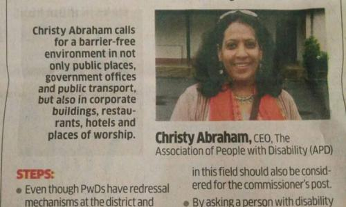 Interview with APD CEO in Economic Times