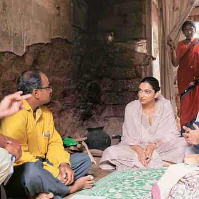 Deepika Padukone Visit at Mental health Community - Rural Karnataka